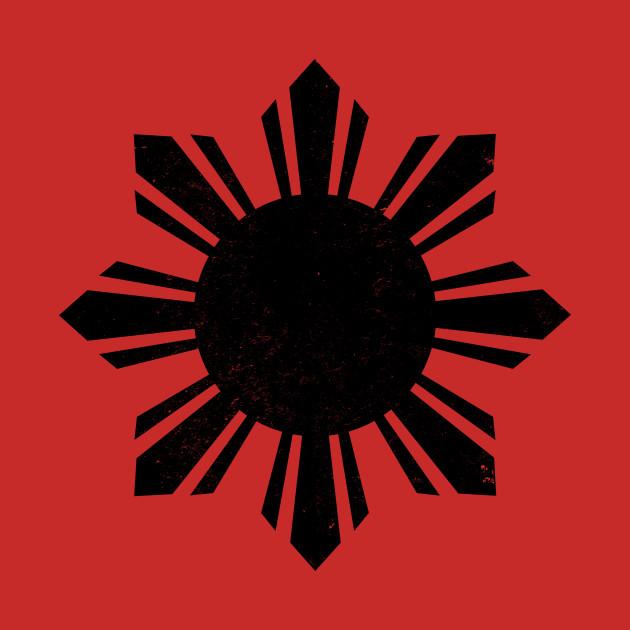 58483c3be5 Filipino Vintage Philippines Sun Black Flag Filipino Vintage Philippines Sun  Black Flag