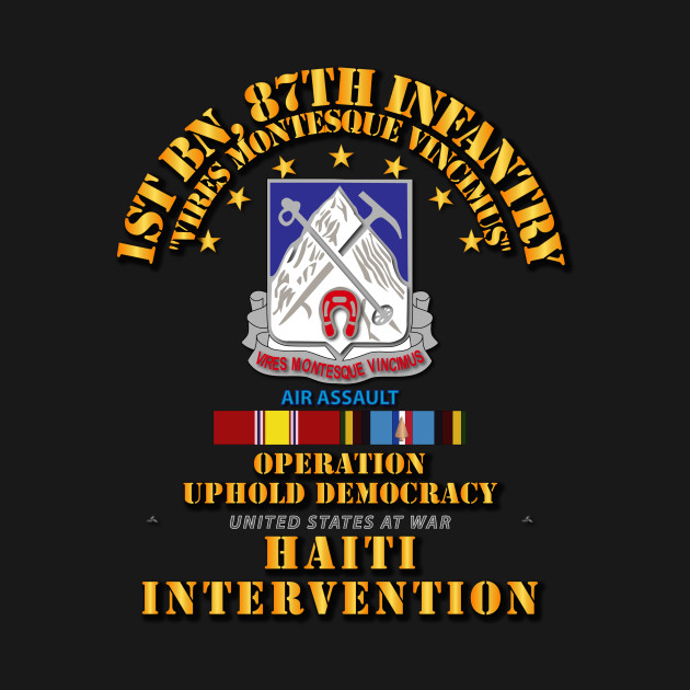 Uphold Demo - 1st Bn 87th Infantry w Svc Ribbons