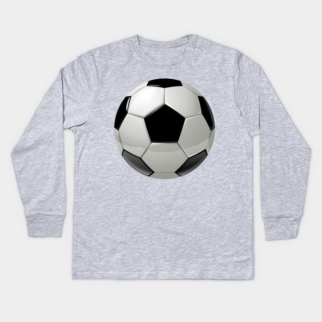 cool soccer ball sport design soccer ball kids long sleeve t