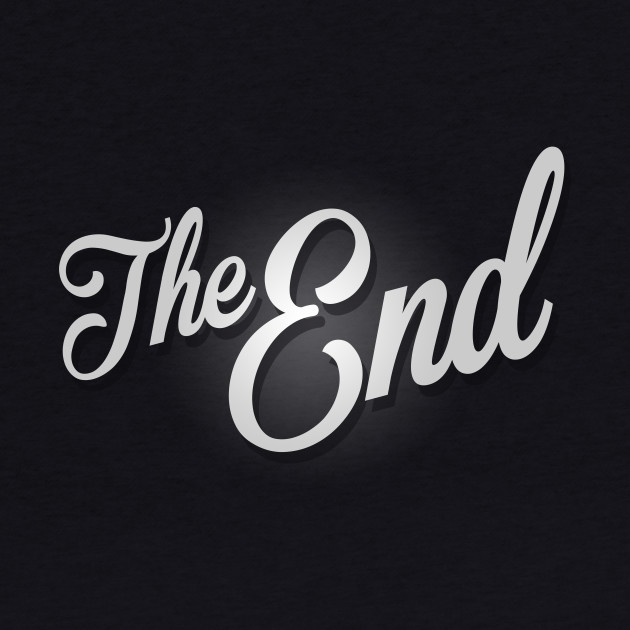 The End Vintage Film Frame