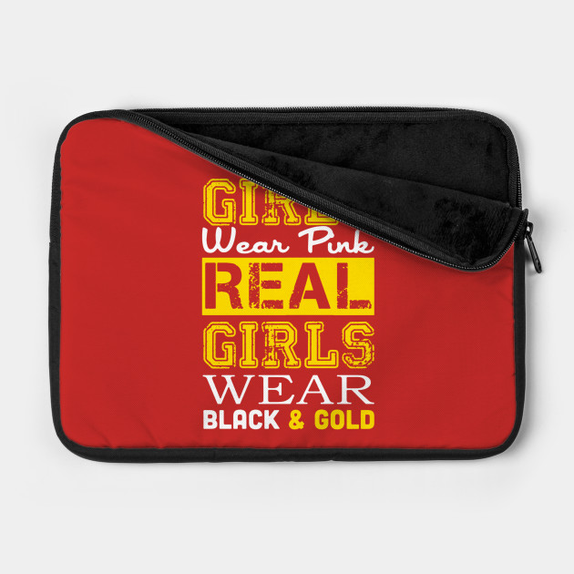 SOME GIRLS WEAR PINK REAL GIRLS WEAR BLACK & GOLD