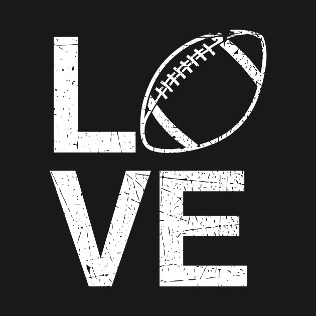 Love Football Logo Fan Sports
