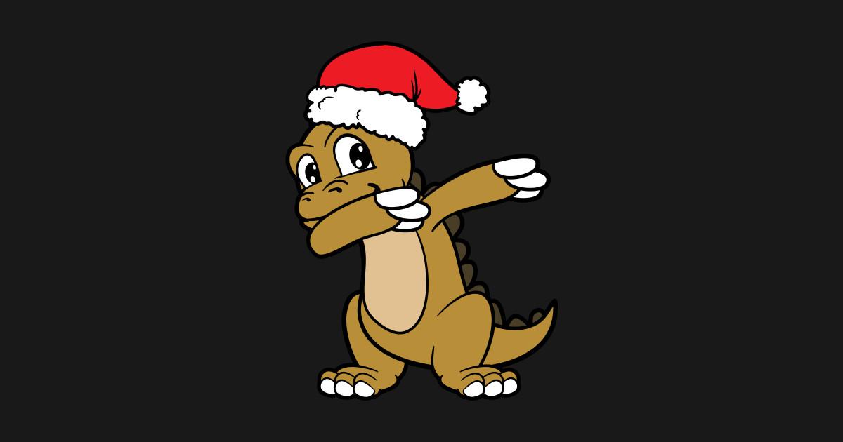 e50a9132 Merry Christmas Xmas Dancing Dabbing Dab Dinosaur - Christmas - Kids ...