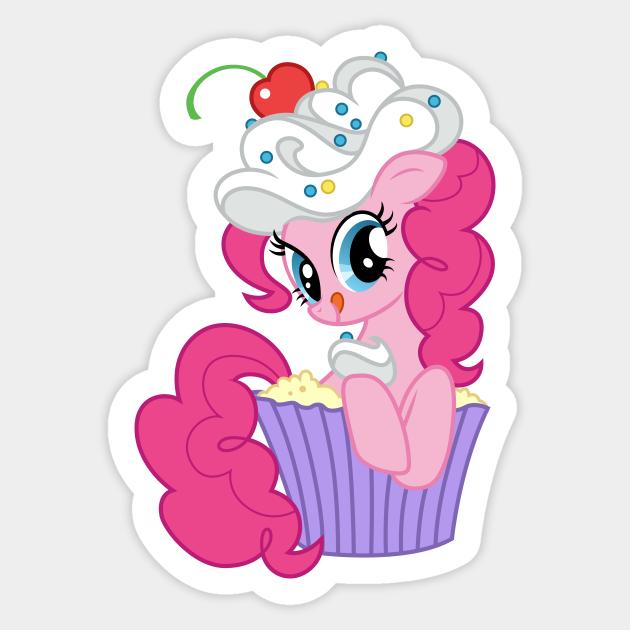 Pinkie Pie in a cupcake - My Little Pony - Sticker   TeePublic