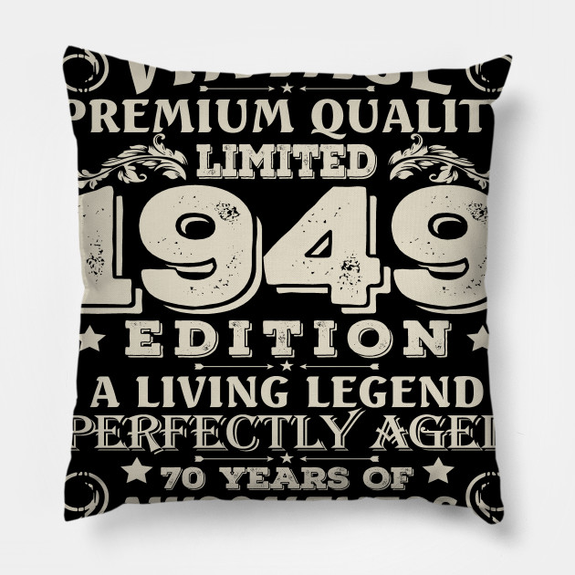 Vintage Made In 1949 70 Years Old Shirt 70th Birthday Gift Pillow