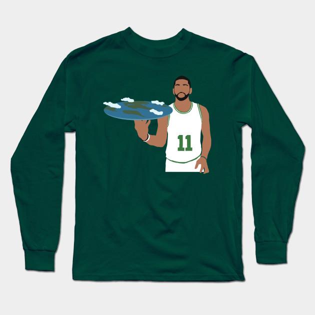 809e68de4 Kyrie Irving Flat Earth Celtics - Kyrie Irving - Long Sleeve T-Shirt ...