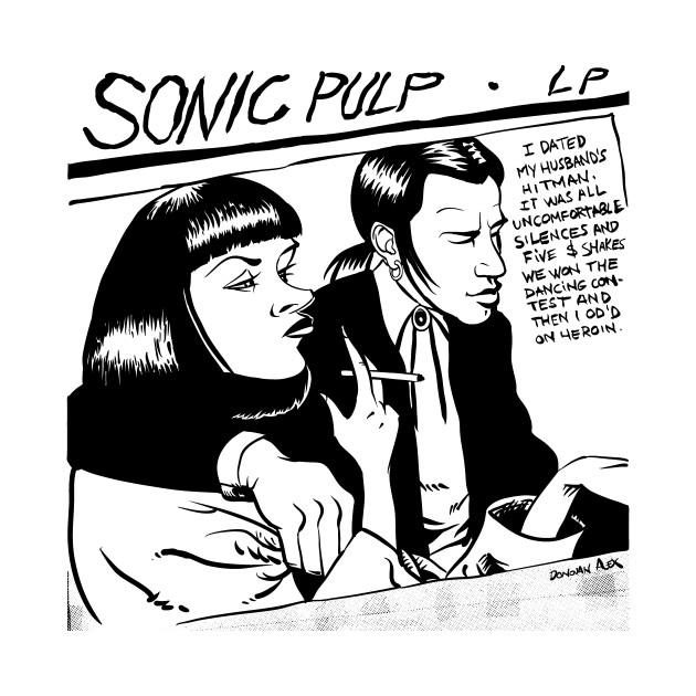 0ac6bc57 Sonic Pulp: Goo Fiction - Sonic Youth - T-Shirt   TeePublic
