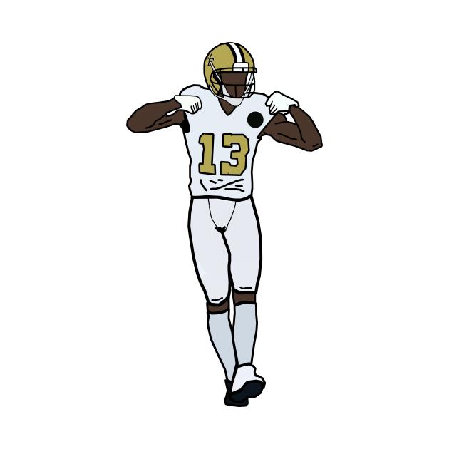 Michael Thomas Touchdown Celebration NFL New Orleans Saints