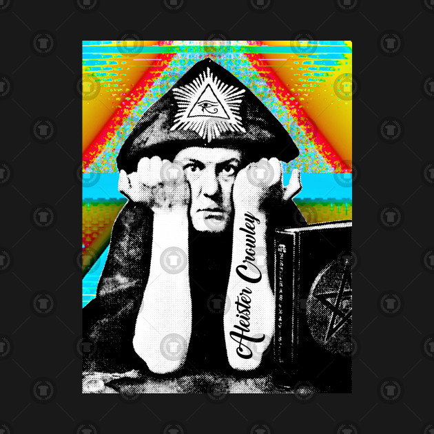 Aleister Crowley Psychedelic Art Print Design