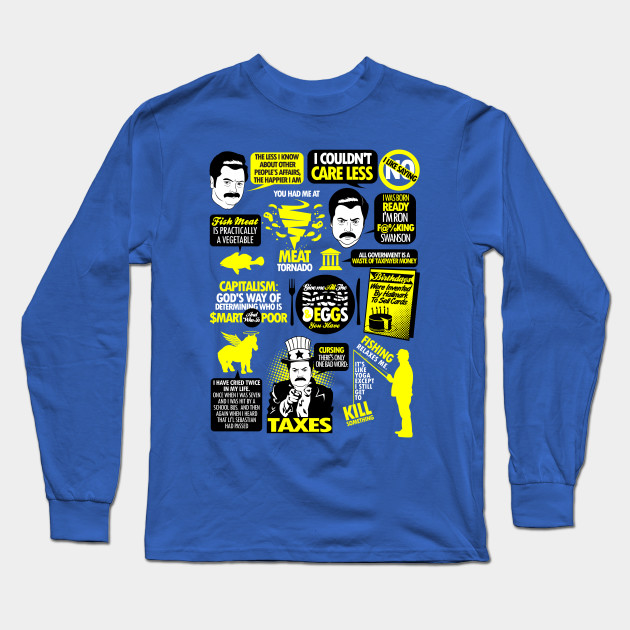 f91b8dd4 Quotes of a Swanson - Parks And Recreation - Long Sleeve T-Shirt ...