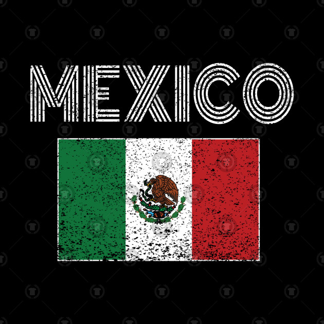 Mexican National Flag Vintage Mexico Country Gift