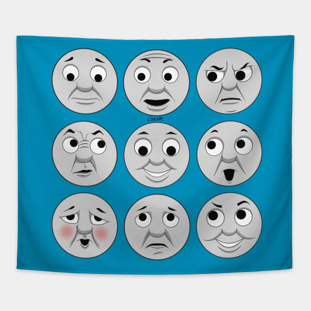 picture relating to Thomas the Train Face Printable identify The plenty of faces of Thomas