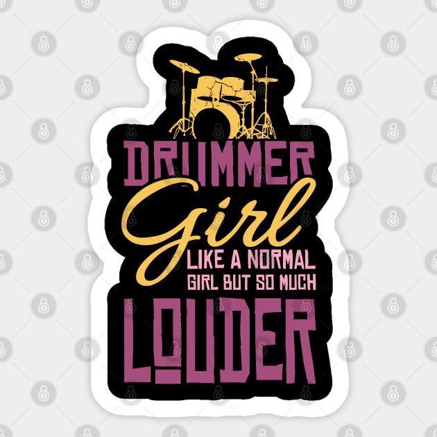 Drummer Girl Drum Set Musician Gifts
