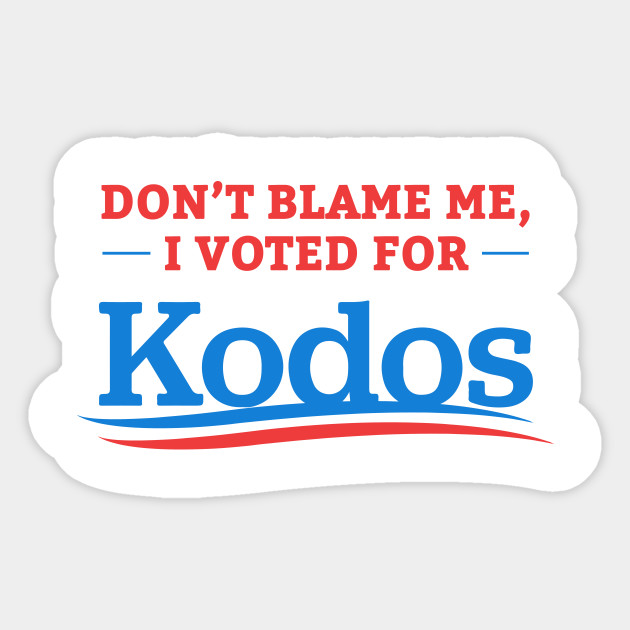 photograph about I Voted Stickers Printable named Dont Blame Me I Voted For Kodos