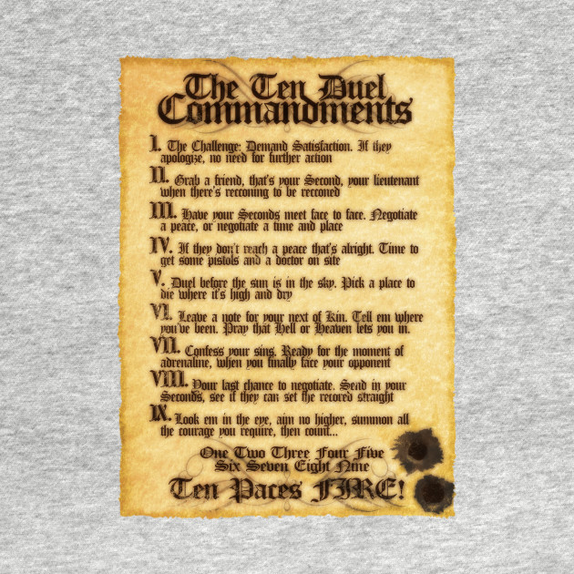 The 10 Duel Commandments