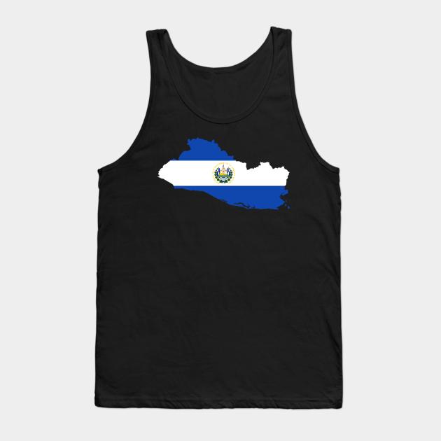 El Salvador Map Flag - El Salvador - Tank Top | TeePublic PL