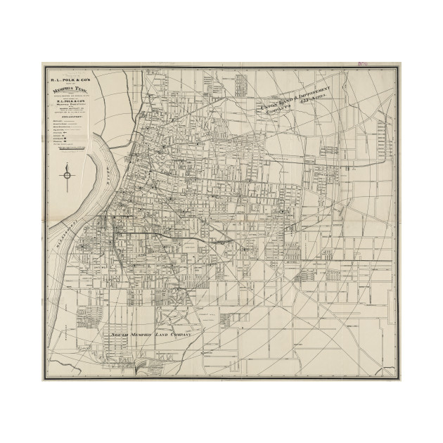 Vintage Map of Memphis Tennessee (1911) - Memphis Map - Tapestry ...