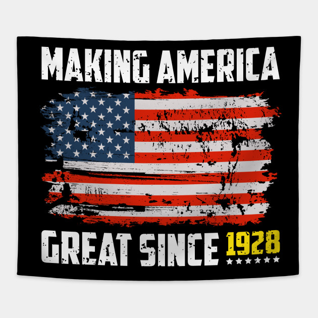 Making America Great Since 1928 90th Birthday T Shirt Gift