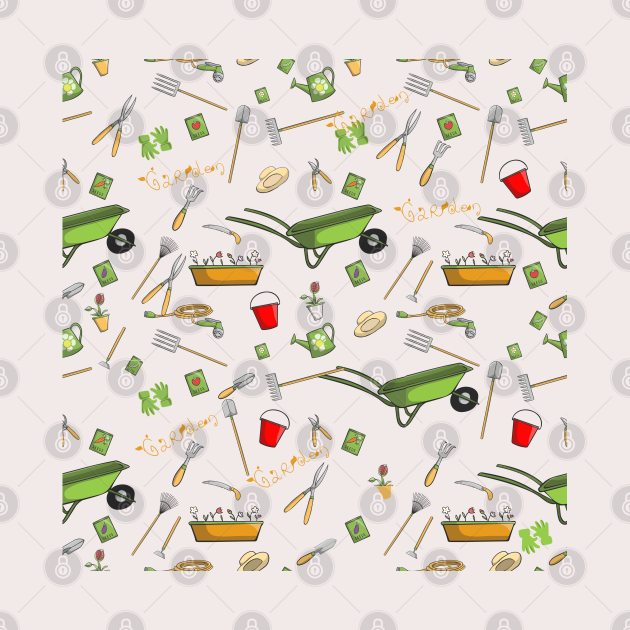 Gardening tools, Cleaning tools background