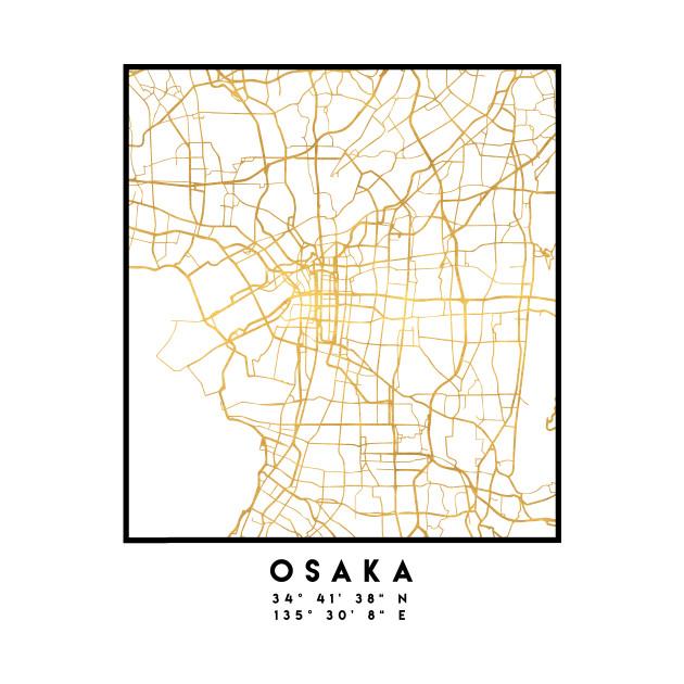 OSAKA JAPAN CITY STREET MAP ART - Osaka - Phone Case | TeePublic