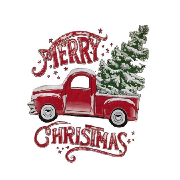 Merry Christmas Rustic Truck
