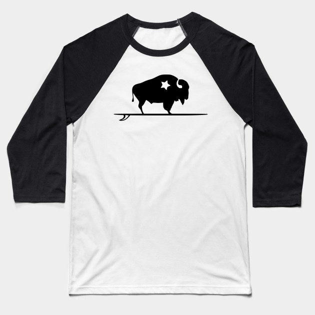 Surfing Buffalo 1 Baseball T-Shirt