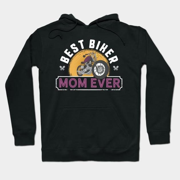Biker Mum Mothers Day Funny Hoodie