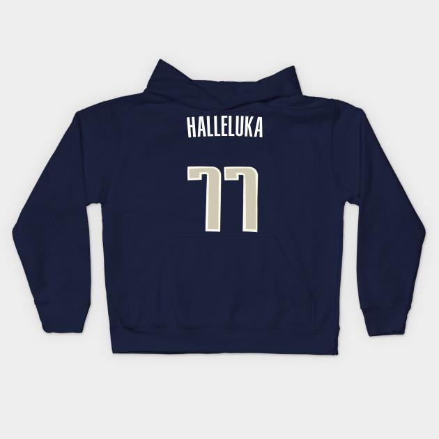f1c6b83d168 Luka Doncic  Halleluka  Nickname Jersey - Dallas Mavericks Kids Hoodie