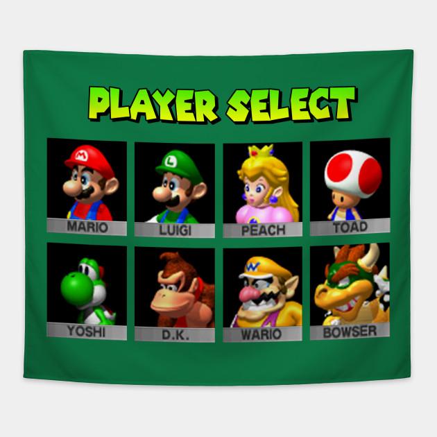 Player Select Mario Kart 64