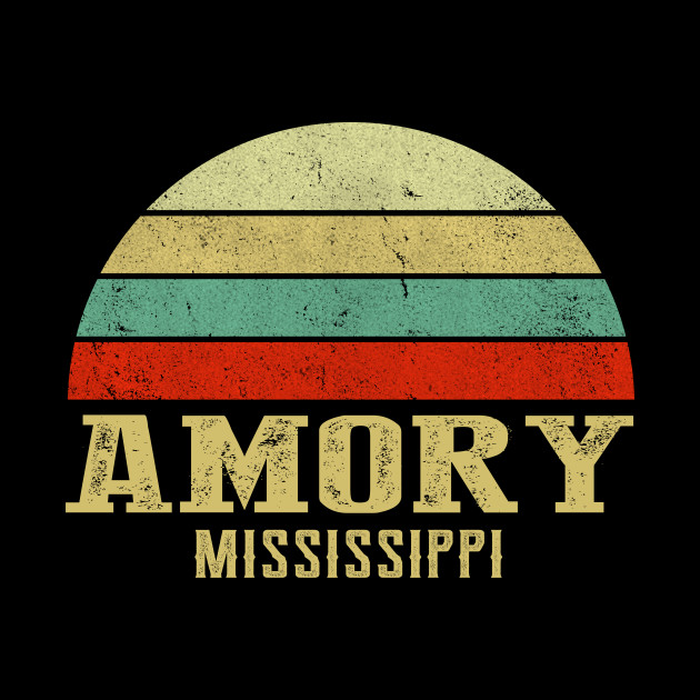 MISSISSIPPI - Vintage Retro Sunset AMORY, MS Shirt
