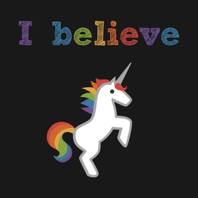 Believe In Unicorns: I Believe Unicorn - Unicorn - Pillow
