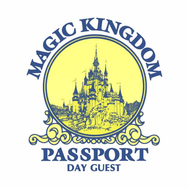 Retro Magic Kingdom Passport Logo