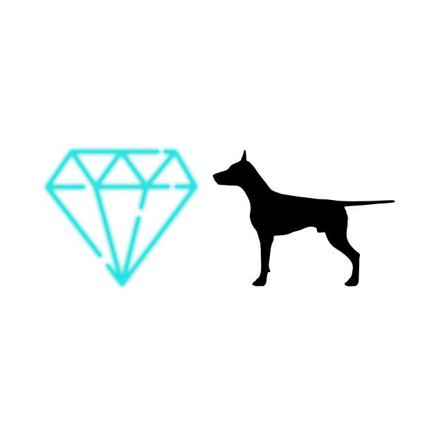 Diamond Dog (Neon white)