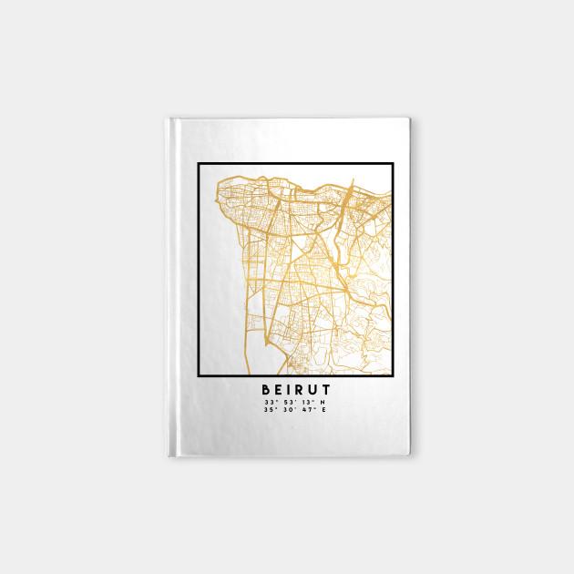 BEIRUT LEBANON CITY STREET MAP ART