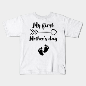 1769eabb32896 Main Tag My First Mothers Day Kids T-Shirts. Description. My First Mother's  Day Pregnancy Announcement ...