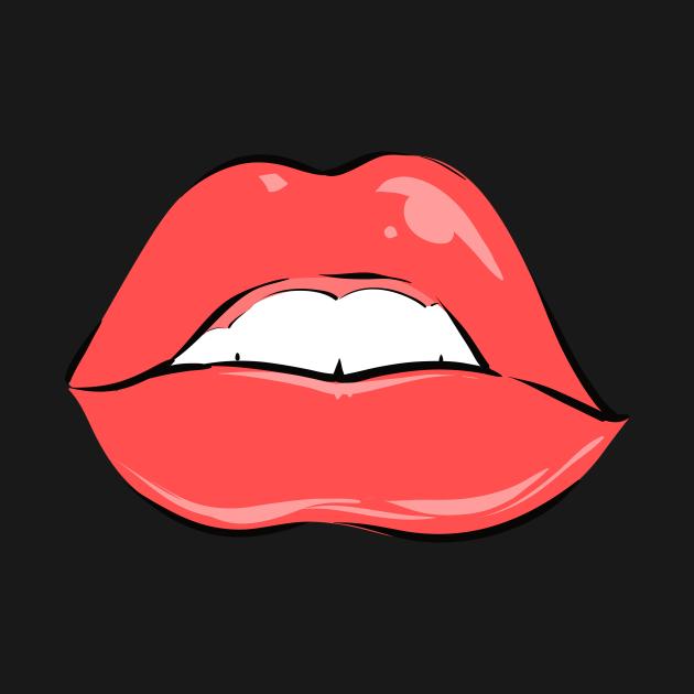 Cartoon lips
