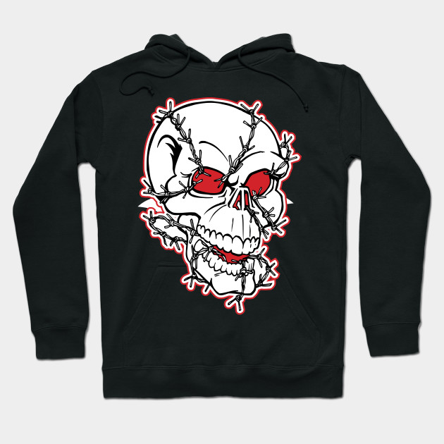 Barb Wired Skull Hoodie