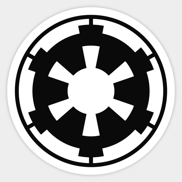 Galactic Empire Logo Star Wars Sticker Teepublic
