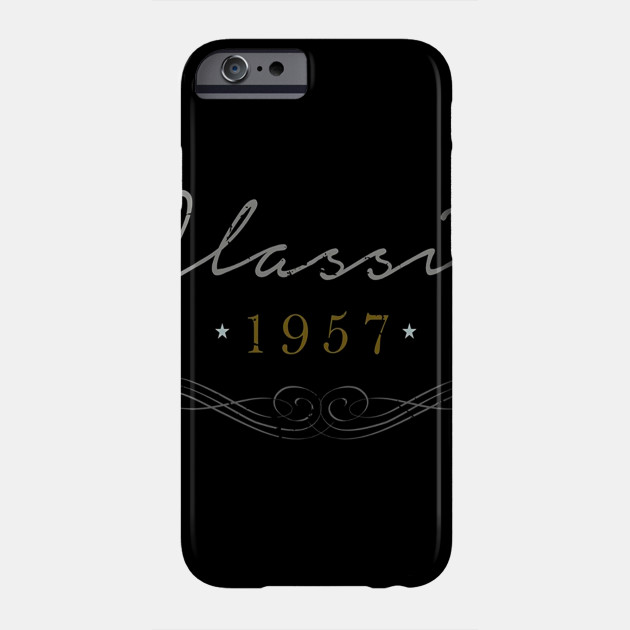 Classic 1957 T Shirt Birthday Gifts For A 60 Year Old Man Phone Case