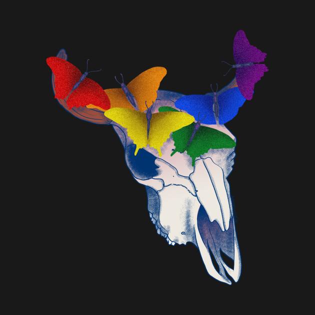 Gay Pride Skull