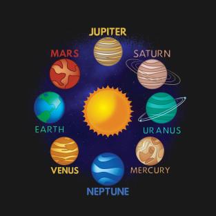 Solar System t-shirts
