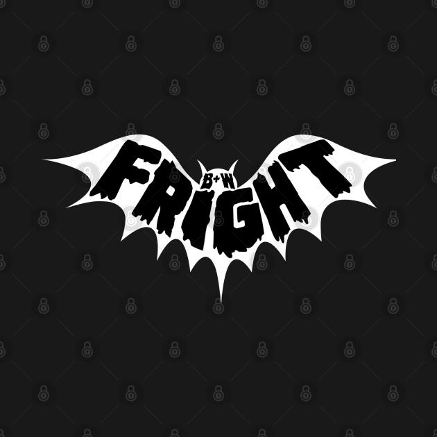 Black & White Fright Negative Bat