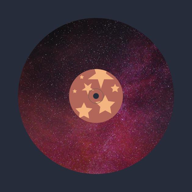 Red galaxy vinyl record