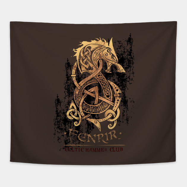 Fenrir  The Monster Wolf of Norse Mythology - Viking - Tapestry ... 46b9259a1