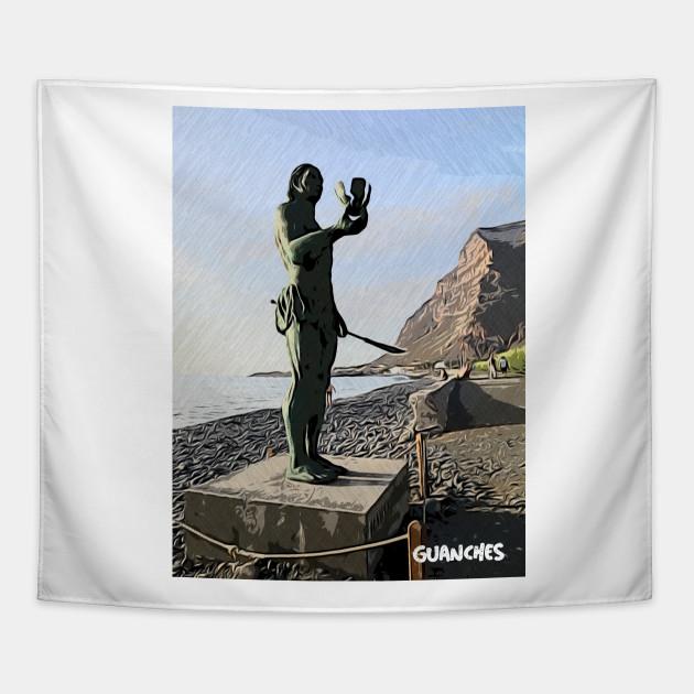Los Guanches canarios La Gomera statue