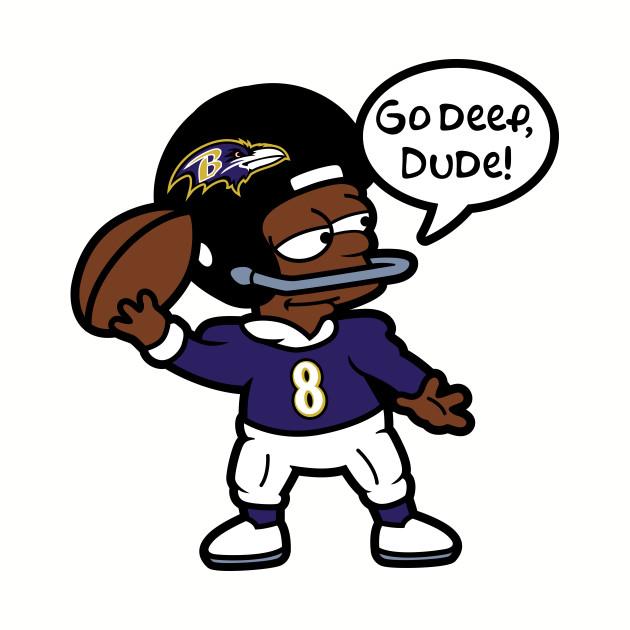 Baltimore Ravens Bart Simpson