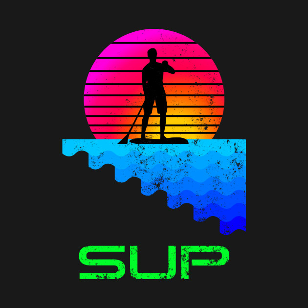 Retro Stand Up Paddle Boarding SUP