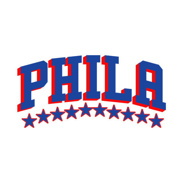 Sixers - Phila (Blue and Red)