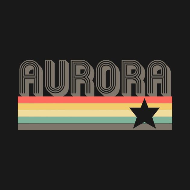 Aurora T-Shirt City Vintage Retro 70s Colorado Tee Gift