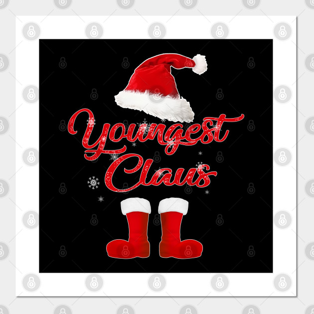 youngest claus family santa claus matching christmas